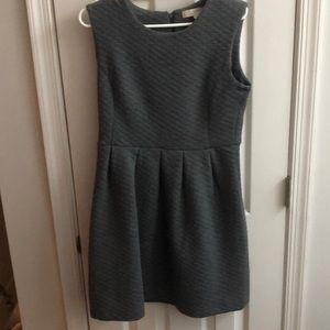 LOFT quilted a-line dress dress